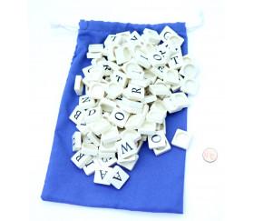 Lot 100 lettres 19X19 mm pour former des mots
