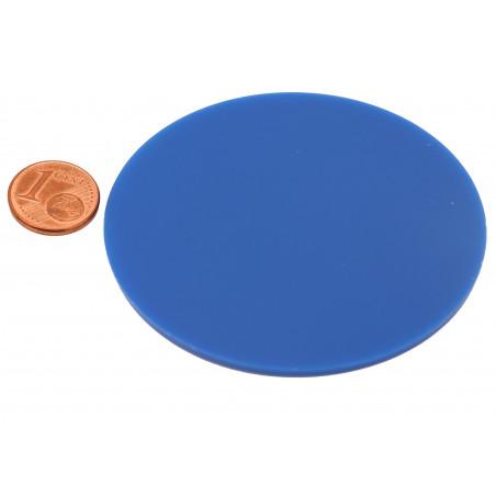 Jeton rond plat 6.5 cm x 0.2 cm. Grand palet à l'unité plastique
