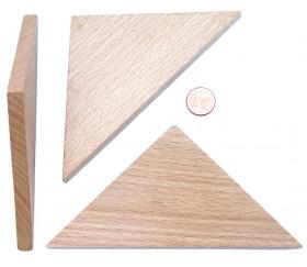 Triangle isocèle bois naturel 130 x 90 x 90 mm - 5 mm épaisseur