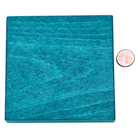 Carré plat en bois vert de 9.1 cm de côté - 91 x 91 x 15 mm à l'unité
