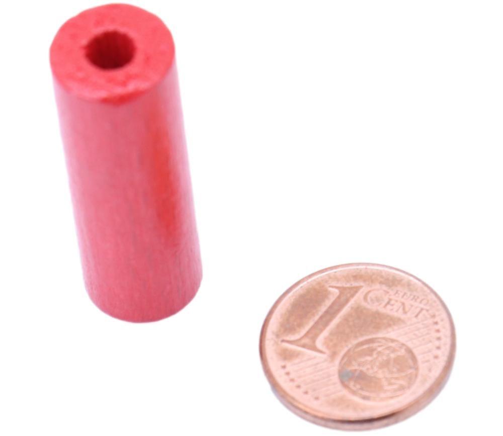 Cylindre rouge 10x30 mm pion de jeu