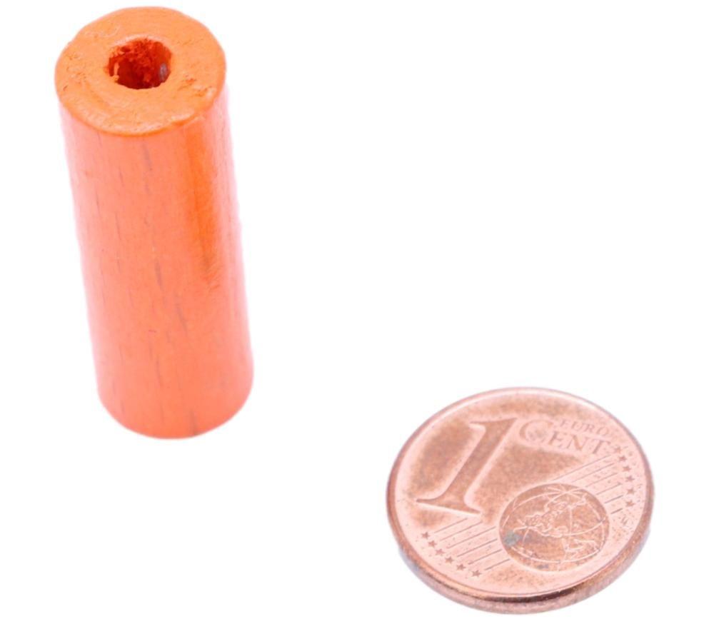Cylindre orange 10x30 mm pion de jeu