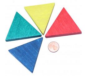 Triangle isocèle en bois rouge 48 x 48 x 53 mm et 8 mm épaisseur