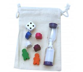 Sac tissu pour pions de jeux