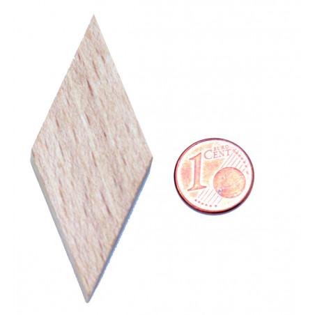 Losange en bois 60 x 25 x 8 mm naturel pour jeu achat en ligne