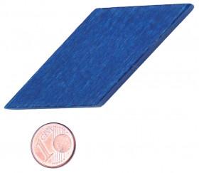 Losange en bois 60 x 25 x 8 mm bleu pour jeu