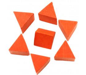 Triangle en bois orange - tente 17 x 15 x 15 mm pour jeu achat en ligne