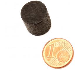 Cylindre noir en bois 15 x 13 mm pion de jeu