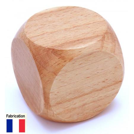Grand dé vierge 43 mm en bois naturel neutre
