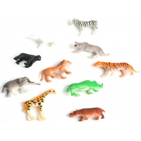 48 Animaux en plastique ZOO de 4 à 5 cm - jouet pas cher