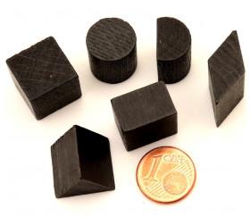 Pavé carré en bois noir - 15 x 15 x 10 mm pour jeu achat en ligne