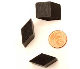 Parallélogramme losange carré en bois noir - 12 x 10 mm pour jeu achat en ligne