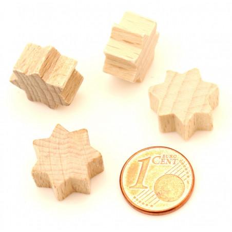 Etoile 15x15x8 mm jetons pions en bois