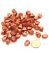 GEM bronze  : 50 mini gemmes opaques pions imitation pierres précieuses pépites