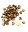 GEM Doré or  : 50 mini gemmes opaques pions imitation pierres précieuses pépites