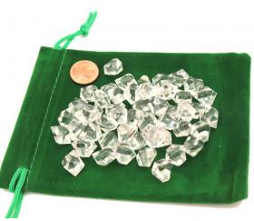 GEM transparent  : 50 mini gemmes translucides pions imitation pierres précieuses pépites