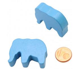 Pion éléphant orange en bois 37 x 28 x 10 mm
