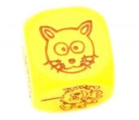 Dé à jouer animaux rigolos 18 mm