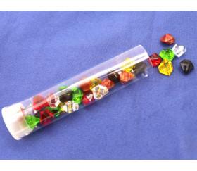 Tube 30 Mini gems multicolores pépites