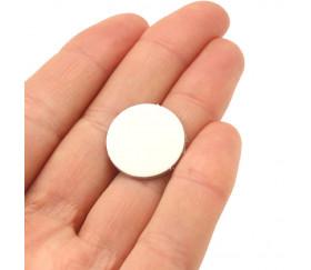 Tuile ronde blanche 20 mm jetons ronds épais à personnaliser