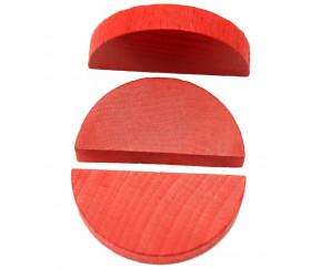 Demi-rond rouge en bois 42 x 23 x 8 mm pion de jeu