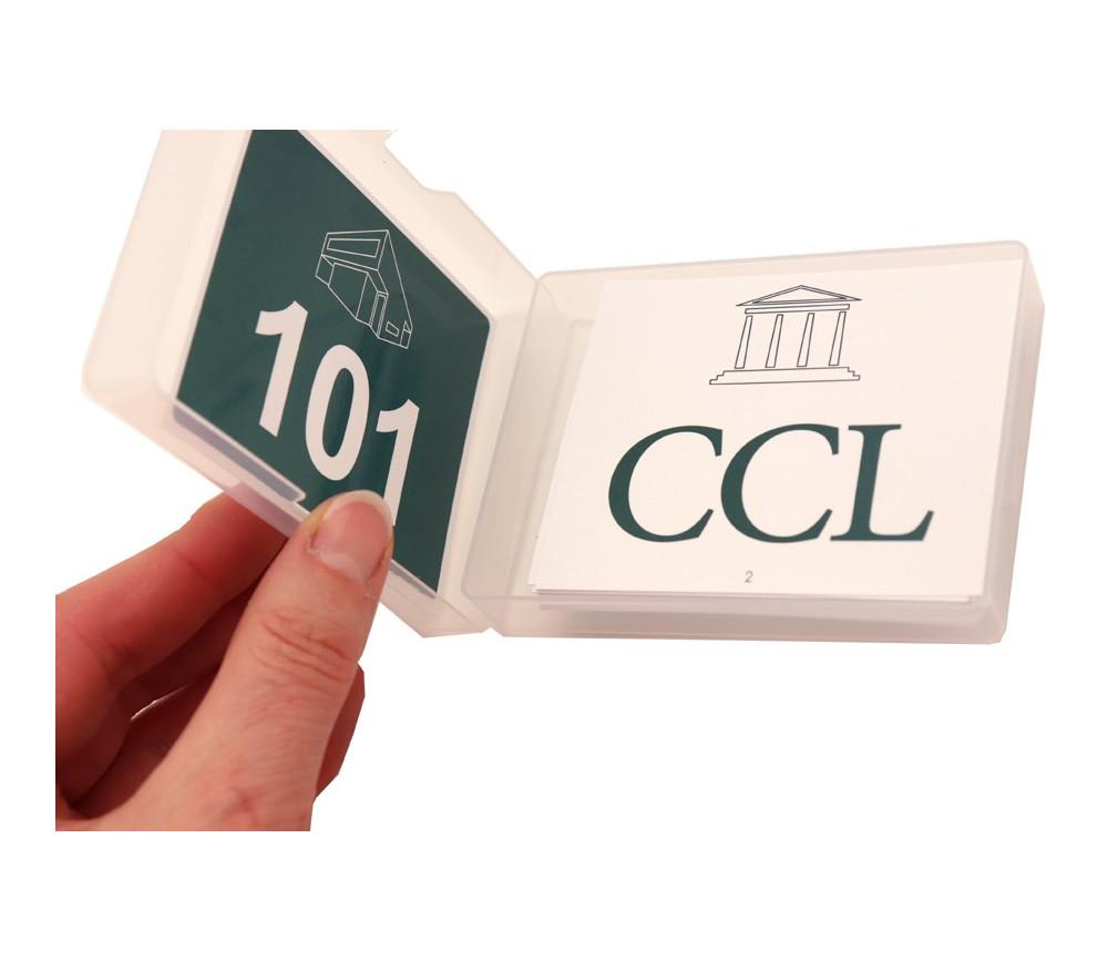 20 cartes nombres entre 100 à 2100 + chiffres romains au verso