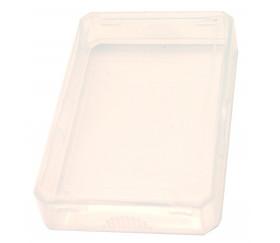 Mini Boite plastique 7.5 x 5.1 x 1.6 cm transparente vide pour mini cartes à jouer