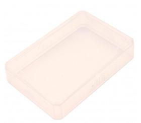 Mini Boite plastique 7.17 x 4.77 x 1.6 cm transparente vide pour mini cartes à jouer