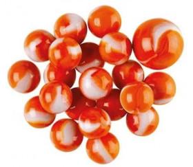 20 Billes Poisson rouge orange pour jeu 16 mm + 1 calot