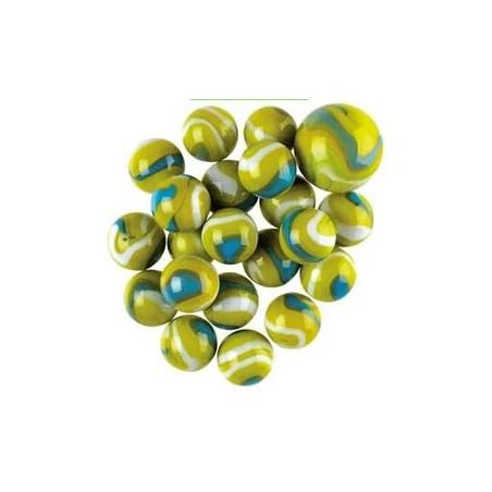 20 Billes Boa vert 16 mm + 1 calot
