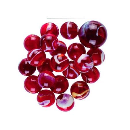 20 Billes opaque rouge IGUANE + 1 boulet