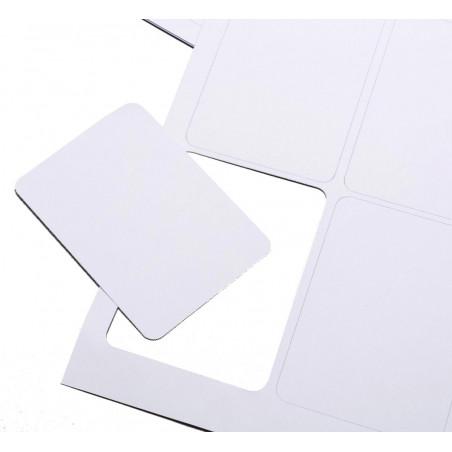 carte à jouer à imprimer Cartes blanches blanches prédécoupées à imprimer sur feuille pour jeu