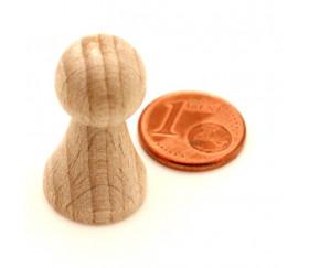 Pion de jeu en bois M naturel de 27 x 15 mm