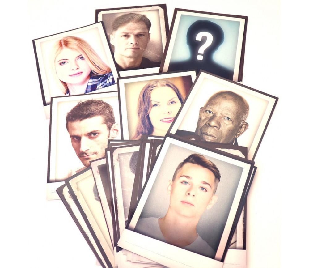 30 cartes Portraits Détective pour jeux