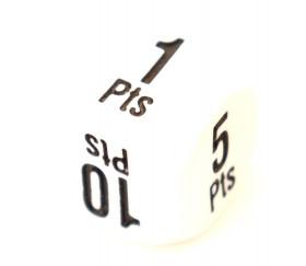 Dé points gagnants 16 mm +1 à +25