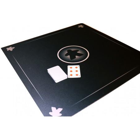 Tapis Meeple noir Multijeux 60x60 cm
