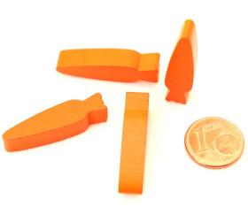 Carotte en bois orange de  6.3 x 8 x 30 mm