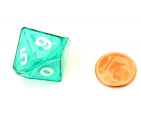 Dé double 10 faces avec 1 mini dé 10 faces à l'intérieur