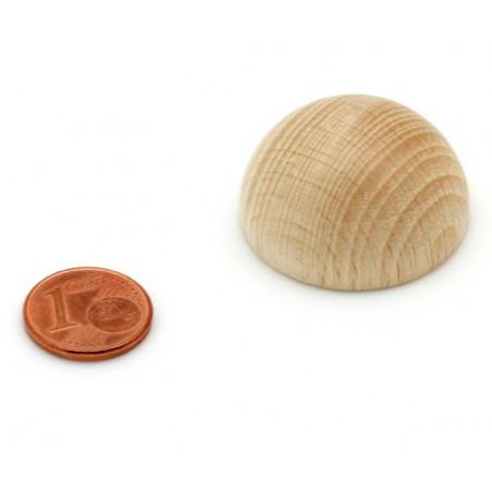 Demi-Boule bois 30 mm diamètre hêtre