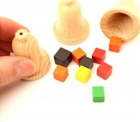 Cloche en bois 30 x 40 mm - clochette