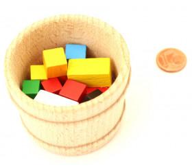 Mini panier en bois de 59 x 45 mm - baquet