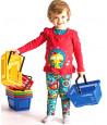 Panier avec anse en plastique 23 x 15.6 x 12 cm - jouet enfant