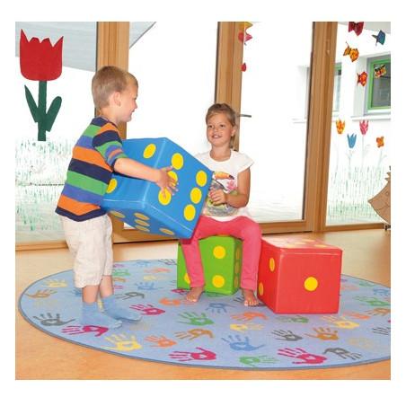 Dé géant 30 cm mousse soft pour jeu ou déco siège