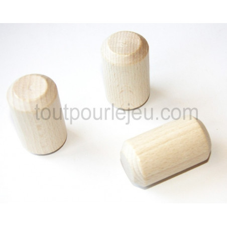 Grand cylindre en bois naturel 31 x 54 mm