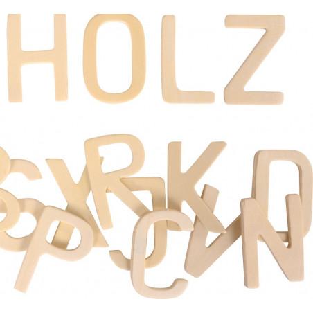 26 lettres alphabet 5.8 cm bois naturel