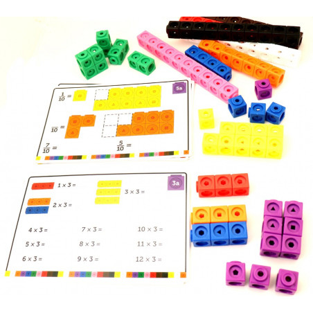 Cubes Math - set activités - 100 cubes + 15 fiches
