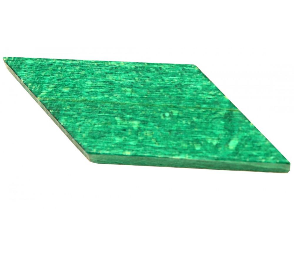 Parallèlogramme en bois 47 x 24 x 8 mm vert pour jeu achat en ligne