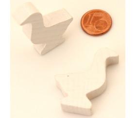 Pion oie blanche en bois de 35 x 26 x 8 mm pour jeu