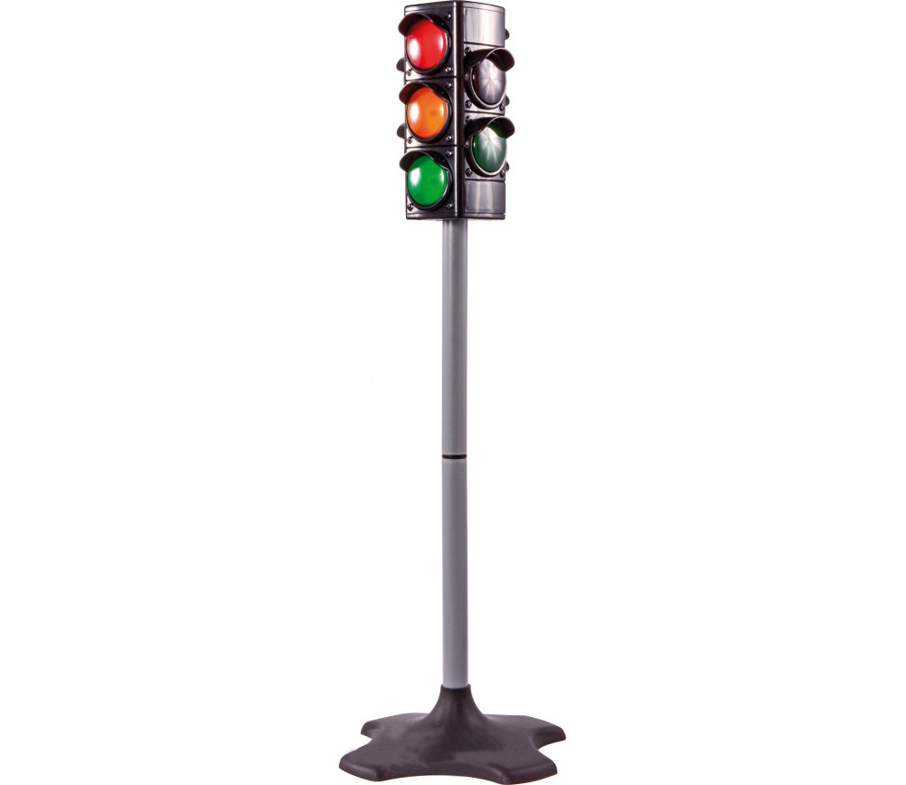 Feu tricolore de circulation lumineux + feu passage piétons