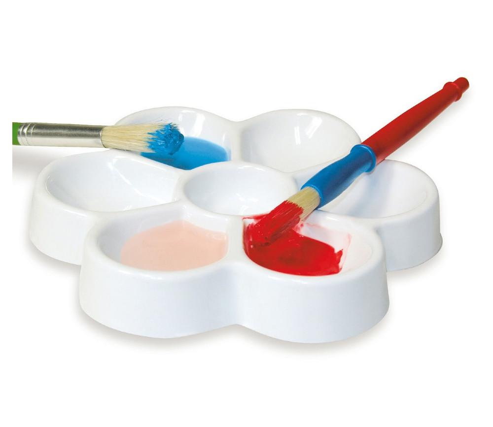 Palette fleur peinture ou tri 19 cm - 7 compartiments